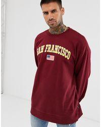 Only & Sons San Francisco - Sweater Met Ronde Hals In Bordeauxrood