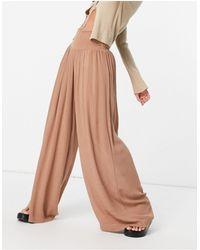 Vero Moda - Светло-коричневые Пляжные Брюки -коричневый Цвет - Lyst