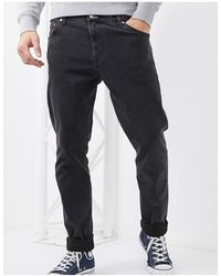 Weekday Sunday Relaxed Tapered Comfort Fit Jeans - Black