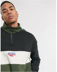 Hi-Tec Sweat-shirt à empiècements avec demi-fermeture éclair - et vert - Noir