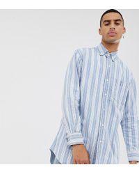 Sixth June - Oversized Shirt In Blue Stripe - Lyst