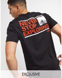 The North Face Черная Футболка – Эксклюзивно На Asos-черный