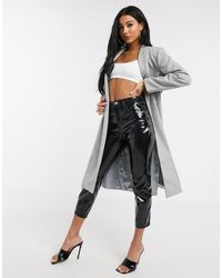 UNIQUE21 Wrap Coat - Grey