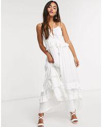 Forever New Белое Платье Макси -белый