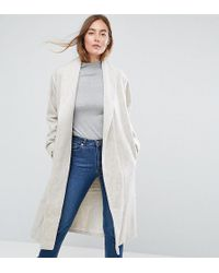 ASOS - Shawl Collar Belted Coat - Lyst
