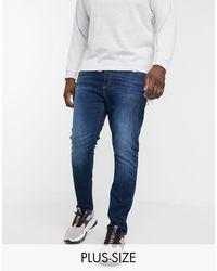 Calvin Klein Выбеленные Джинсы Скинни Plus Size-синий