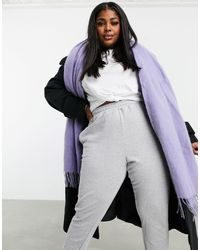 ASOS Supersoft Long Woven Scarf With Tassels Dusty Lavender - Purple