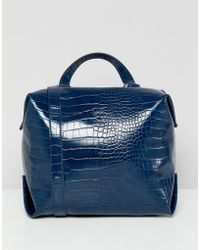 French Connection - Square Mock Croc Bag - Lyst