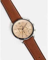 Fossil - Коричневые Часы С Кожаным Ремешком Fs5627 Neutra Chrono-коричневый - Lyst