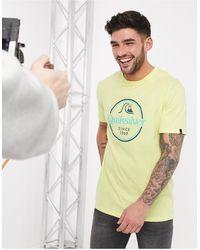 Quiksilver – Words Remain – T-Shirt - Gelb