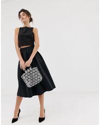 ASOS Midi Prom Skirt - Black