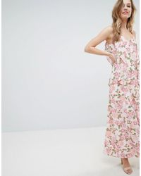 Oh My Love - Cami Maxi Dress With Frill Detail - Lyst