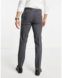 Tommy Hilfiger Regular Fit Wool Suit Trousers - Grey