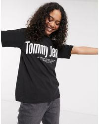 Tommy Hilfiger Diagonal - T-shirt Met Logo - Zwart