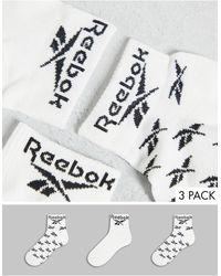Reebok Confezione da 3 calzini bianchi - Bianco