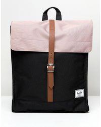 Herschel Supply Co. Mochila en negro y rosa y ceniza city exclusiva