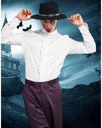 ASOS Белая Узкая Рубашка С Оборками - Многоцветный