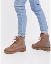 Call It Spring By Aldo Alexia Vegan Chunky Lace Up Boot - Natural