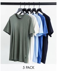 Burton 5 Pack Crew T-shirts - Multicolour