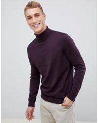 New Look - Roll Neck Jumper In Purple - Lyst
