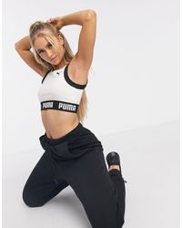 PUMA Спортивный Кремовый Бюстгальтер Training - Многоцветный