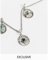 Reclaimed (vintage) Серебристая Подвеска С Черным Ониксом Из Коллекции Сменных Шармов Inspired-серебряный - Металлик
