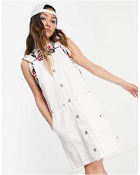 Tommy Hilfiger Белое Короткое Джинсовое Платье-комбинезон -белый