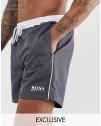 BOSS by HUGO BOSS Темно-серые Шорты Для Плавания Boss - Серый