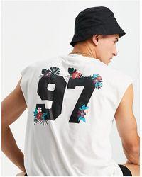 Another Influence Camiseta sin mangas con estampado 97 en la espalda - Blanco