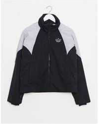 adidas Originals Short Length Padded Jacket With Block Colour Shoulders - Black