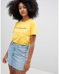 Adolescent Clothing Born to be mild - T-shirt - Giallo
