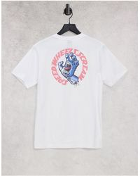 Santa Cruz Vntg - t-shirt à dessin main hurlante - Blanc