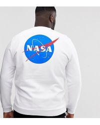ASOS Nasa - Sweat-shirt imprimé au dos - Blanc