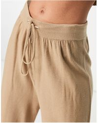 Mango Slouchy Comfy Trouser - Natural