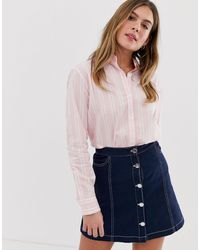 Jack Wills Guilden Boyfriend Shirt - Pink