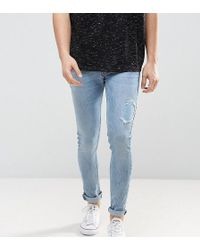 Just Junkies - Super Skinny Jeans In Light Wash With Abrasions - Lyst