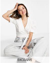 Reclaimed (vintage) Blusa blanca - Blanco