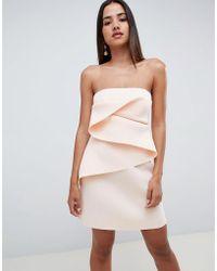ASOS - Design Bonded Origami Fold Shift Mini Dress - Lyst