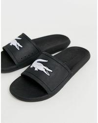 Lacoste Croco Slide Sandal - Black
