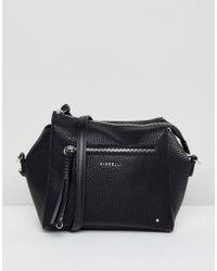 Fiorelli Erin Black Zip Front Cross Body Bag