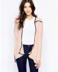 Wal-G - Cardigan With Zip Detail - Lyst