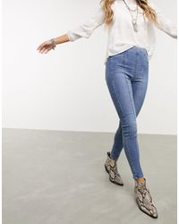 Free People Feel Alright Skinny Jeans - Blue