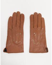 Barneys Originals Светло-коричневые Кожаные Перчатки С Отделкой Для Управления Сенсорными Гаджетами Barney's Originals-светло-коричневый
