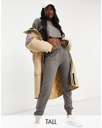 Missguided Cropped Sweatshirt And jogger Set - Grey