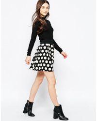 Wal-G - Skater Skirt In Spot Print - Lyst