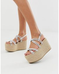 ASOS - Jules Chunky Espadrille Wedges - Lyst