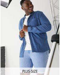 River Island Pantalones vaqueros cortos en azul claro Big & Tall