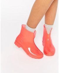 ASOS Galaxy Glow In The Dark Wellies - Orange