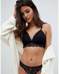 New Look - Moulded Lace Bralet - Lyst
