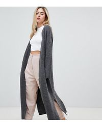 Micha Lounge - Luxe Maxi Cardigan With Side Splits - Lyst